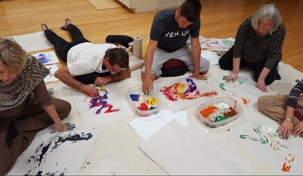 Artist Training - Creative Coaching painting